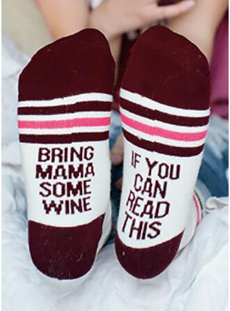 Letter/Print Comfortable/Women's/Crew Socks Socks