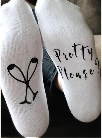 Letter/Print Comfortable/Crew Socks/Unisex Socks