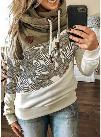 luipaard Lange Mouwen Hoodie