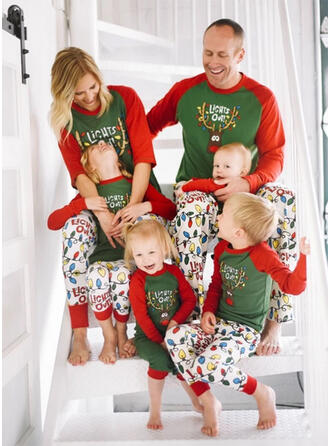 Letter Cartoon Family Matching Christmas Pajamas