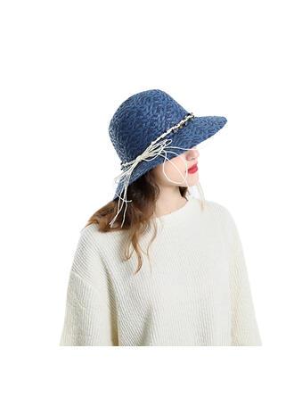 Ladies' Beautiful/Classic/Elegant Raffia With Bowknot Straw Hats