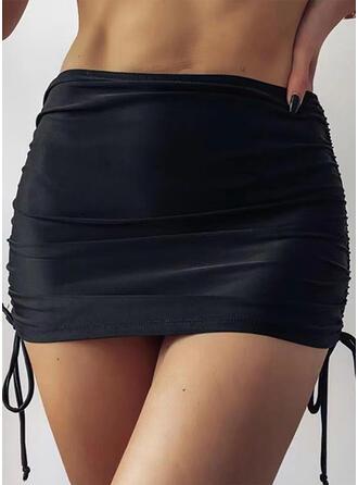 Solid Color Bottom String Strapless Elegant Retro Bottoms Swimsuits