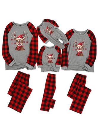 Hert Plaid Bloemen Voor Gezinnen Kerst Pyjamas