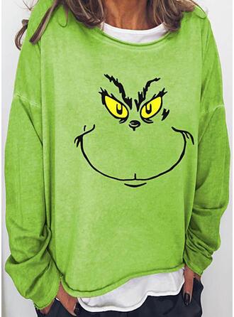 Print Ronde nek Lange Mouwen Sweatshirts