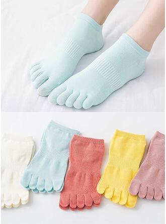 Effen kleur/Kleurrijk Ademend/Comfortabel/Teen/Enkelsokken Sokken (Set van 5 paren)