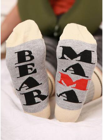 Striped/Letter/Print Breathable/Women's/Crew Socks Socks