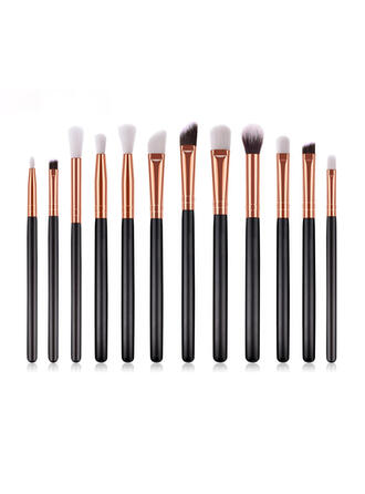 12 PCS Shell Design Handle Microfiber Makeup brush sets With OPP Bag