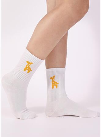 Solid Color/Animal Crew Socks Socks