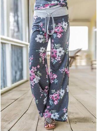 Bloemen Lapwerk Grote maat Trekkoord Casual sportieve Yoga Lounge broek