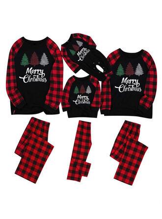 Plaid Letter Voor Gezinnen Kerst Pyjamas