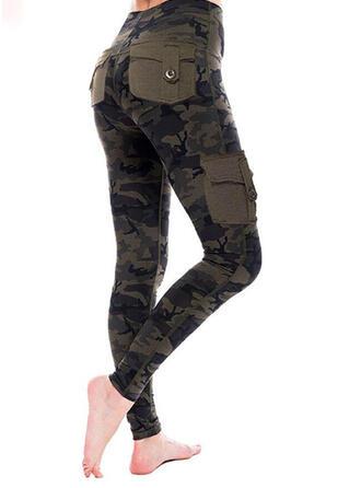 Zakken Grote maat Camouflage Casual Sexy Leggings
