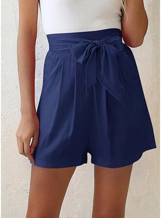 Zakken Shirred Boven de knie Casual Elegant Shorts