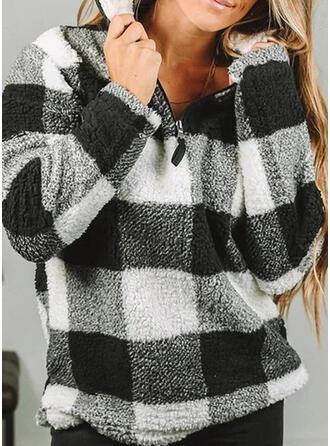 Print Afneembare kraag Lange Mouwen Sweatshirts