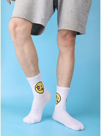 Crochet Soft/Smiling Face Socks