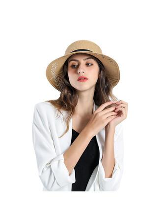 Ladies' Beautiful/Classic/Elegant Raffia With Flower Straw Hats