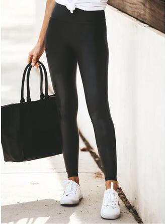 Solide Grote maat Casual Sexy Yoga Leggings
