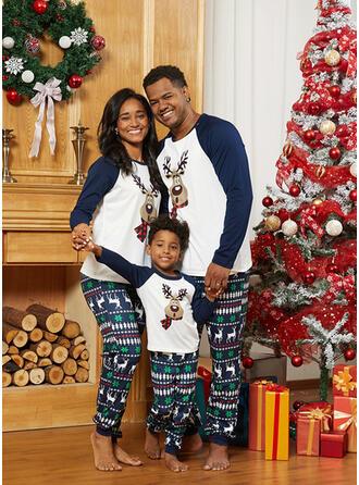 Hert Print Voor Gezinnen Kerst Pyjamas