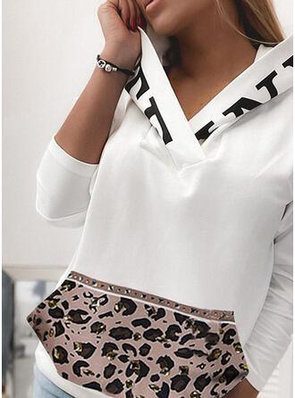 Print luipaard Lange Mouwen Hoodie