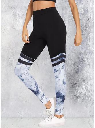 Patchwork Tie Dye Yoga Stretchy Leggings
