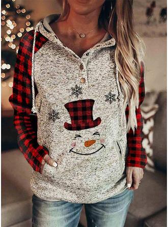 Print rooster Lange Mouwen Kerst Sweatshirt
