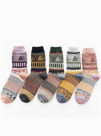 Bloemen/Bohemen/Kleurrijk Comfortabel/Crew sokken Sokken (Set van 5 paren)