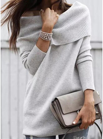 Solide Off the Shoulder Casual Truien