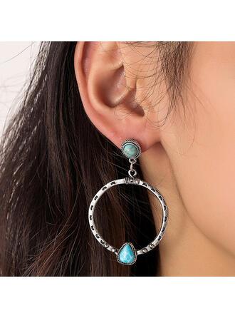 Attractive Charming Elegant Delicate Alloy Turquoise Women's Ladies' Girl's Earrings