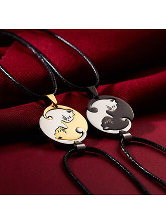 Alloy Stainless Steel Women's Ladies' Girl's Necklaces 2 PCS