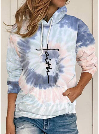 Print Tie Dye Figure Long Sleeves Hoodie