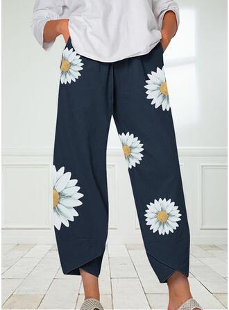 Floral Print Casual Print Lounge Pants