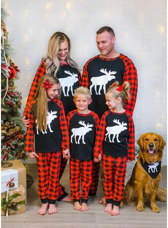 Rendier Plaid Voor Gezinnen Kerst Pyjamas