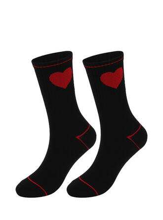 Solid Color/Geometric fashion/Breathable/Women's/Crew Socks/Valentine's Day Socks