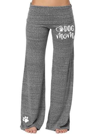 Solide Print Grote maat Casual sportieve Yoga Lounge broek