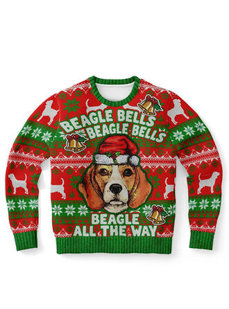 Unisex Print Letter Ugly Christmas Sweater