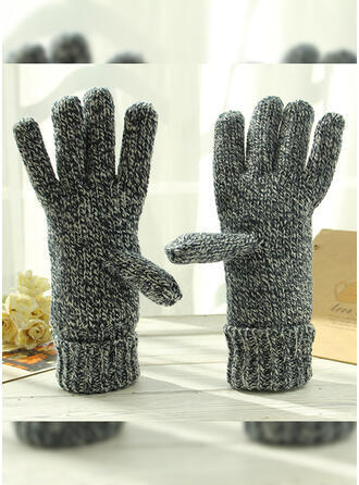 Solid Color/Crochet simple/Protective/Fingers Gloves