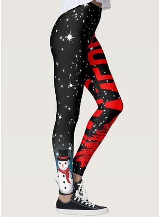 Print Grote maat Kerstmis Casual sportieve Yoga Leggings