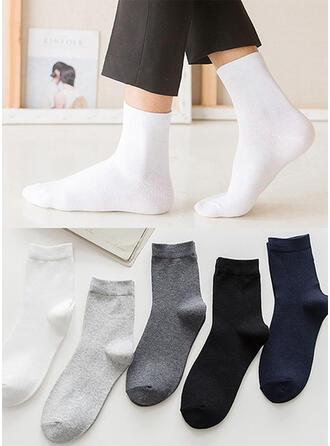 Effen kleur Ademend/Comfortabel/Crew sokken Sokken (Set van 5 paren)