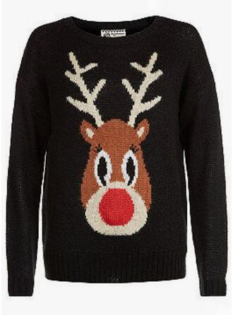 Uniseks Polyester Hert Lelijke kerstsweater