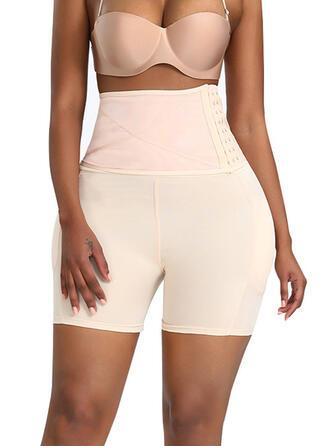 Polyester Spandex kleur Effen kleur Lapwerk Mesh Shapewear