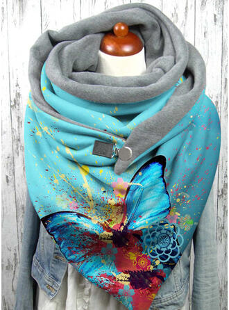 Print/Colorful fashion/Warm/Butterfly Design Scarf