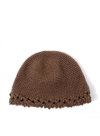 Women's Glamourous/Charming/Vintage Cotton With Flax Floppy Hats