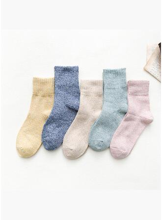 Kleurrijk/haak Ademend/Comfortabel/Crew sokken Sokken (Set van 5 paren)