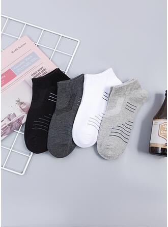 Solid Color simple/Ankle Socks Socks (Set of 4 pairs)