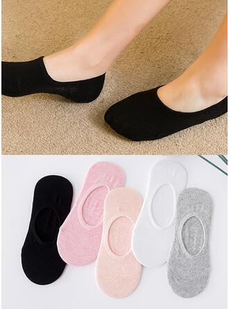 Effen kleur Ademend/No Show sokken Sokken (Set van 5 paren)