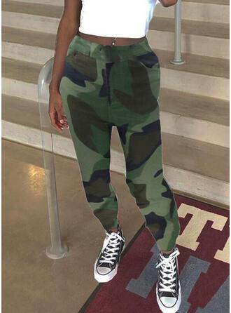 Shirred Camouflage Lang Casual sportieve Broeken