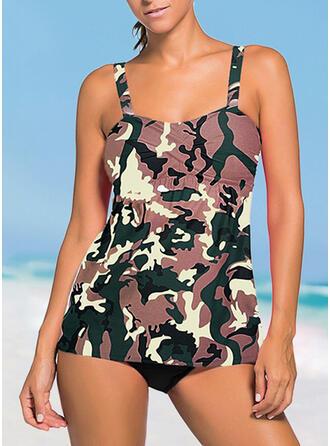 Strap U-Neck Fresh Casual Swimdresses Swimsuits