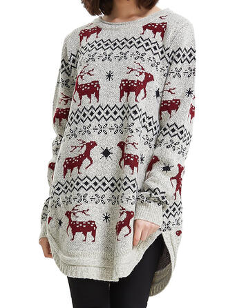 Dames Polyester Rendier Lelijke kerstsweater