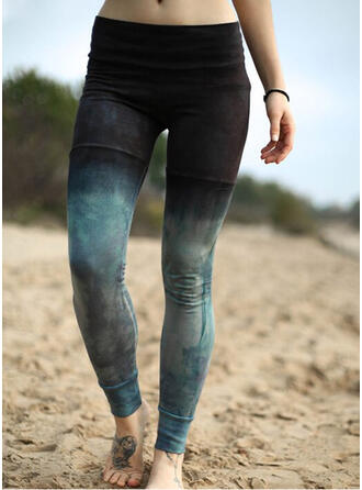 Grote maat Tie Dye Casual sportieve Yoga Leggings
