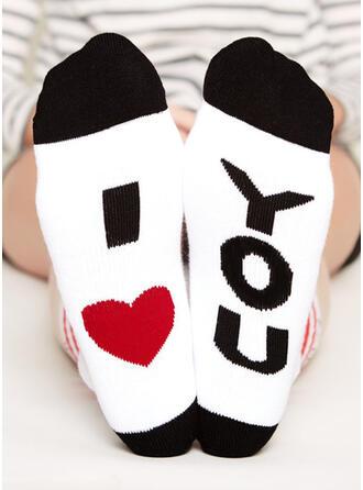 Letter/Stitching/Print Breathable/Women's/Crew Socks Socks